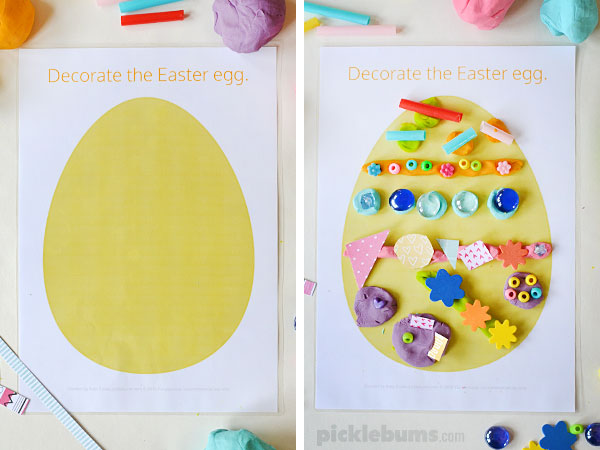 Easter Play Dough Mats Free Printable Picklebums