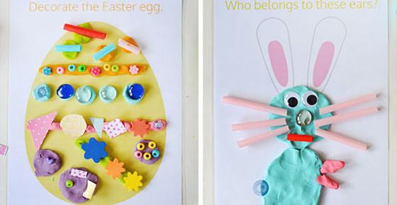 Easter Play Dough Mats – Free Printable