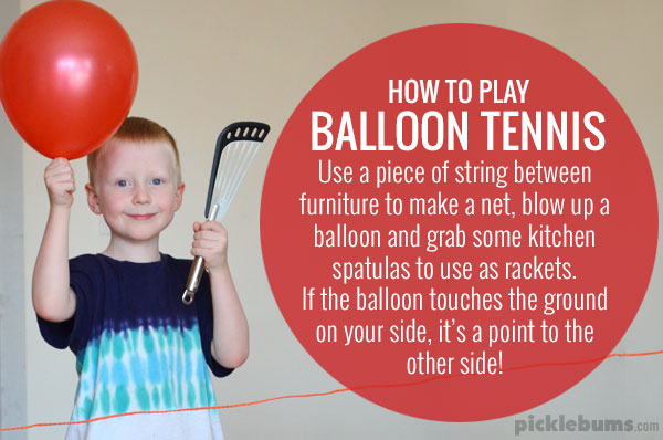 How to play balloon tennis