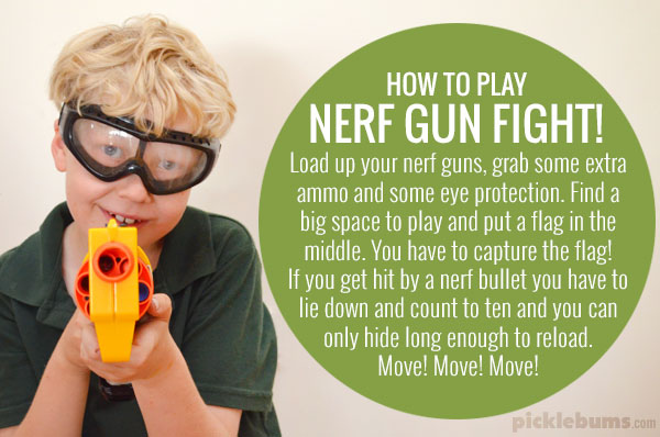 Nerf gun fight - how to play