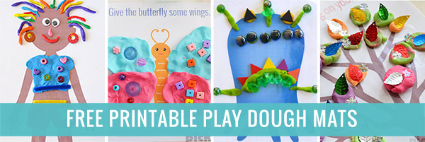 Find all our free printable play dough mats here
