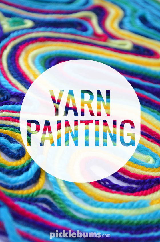 Yarn painting picklebums for Art and craft painting
