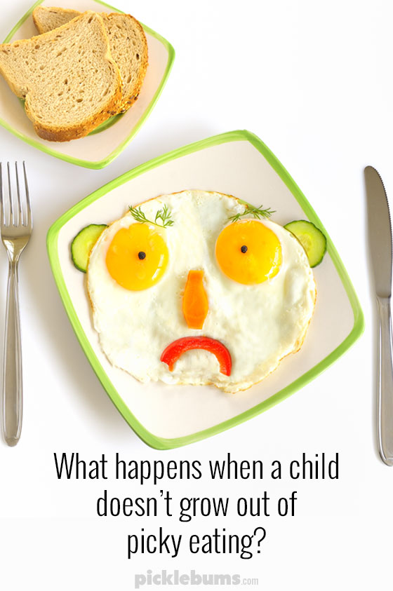 What happens when a child doesn't grow out of picky eating?