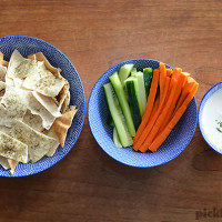 Pita Chips - an easy taste snack that the kid can cook!