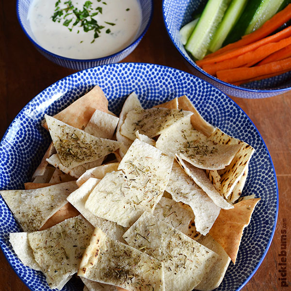 Pita Chips - an easy tasty snack that the kid can cook!