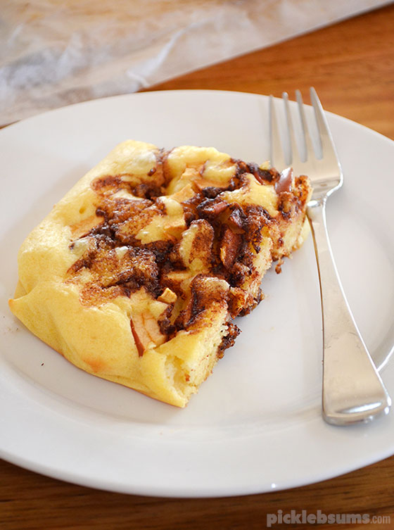 Quick and Easy Apple and Cinnamon Baked Pancake