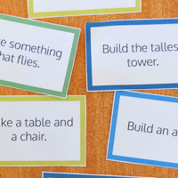 Free Printable Building Challenge Cards.