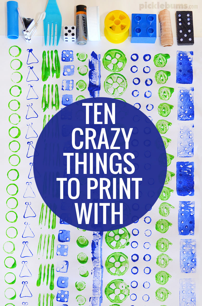 Ten crazy things to print with picklebums for Craft paint safe for babies