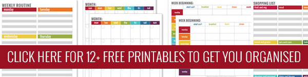 12+ Simple  organisation printables