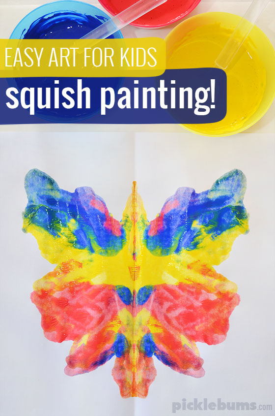 Easy art for kids squish painting picklebums Fun painting ideas for toddlers