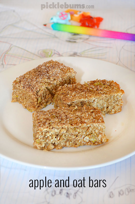 Apple and Oat bars - delicious chewy treats