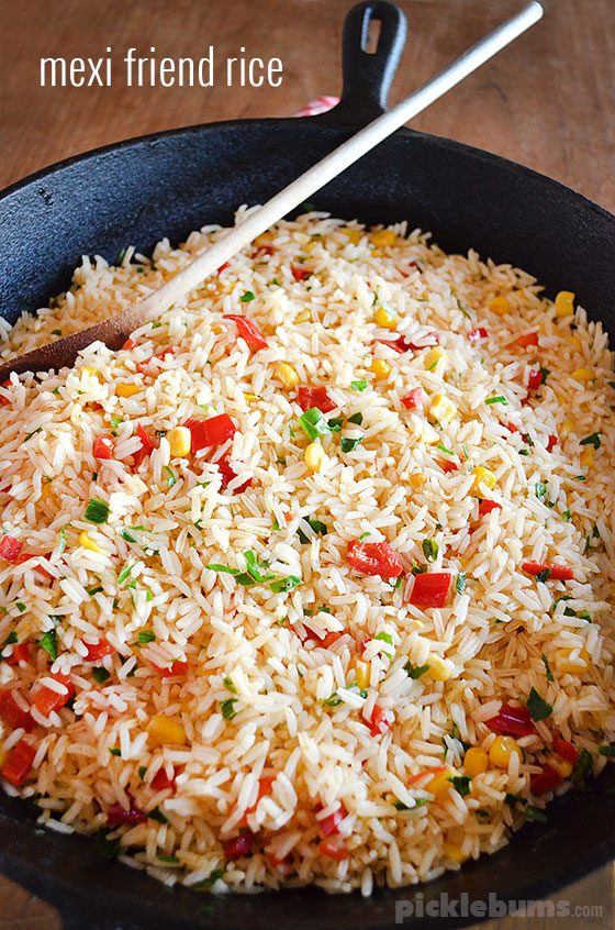 Mexi Fried Rice - a quick, easy, and budget friendly family meal