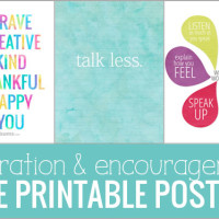 Printable Inspiration and Encouragement.