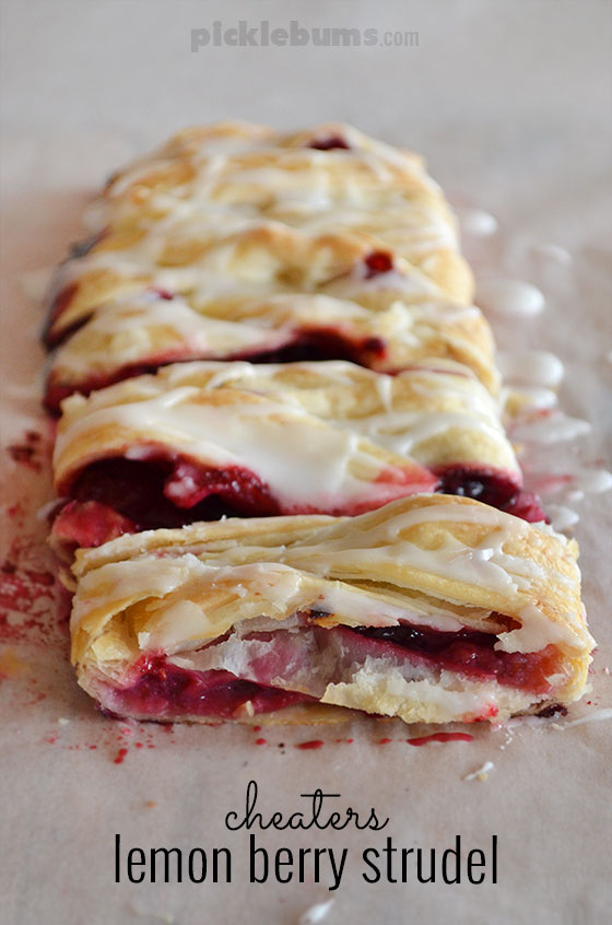 Cheaters Lemon and Berry Strudel
