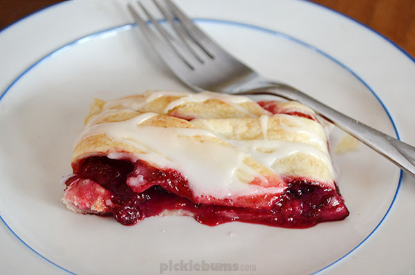 Cheaters Lemon and Berry Strudel - only 3 main ingredients
