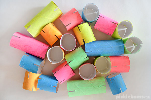 Make your own cardboard tube construction set!