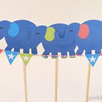 Elephants Balancing –  free printable puppets