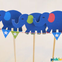 elephants balancing puppets