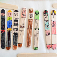 Make Some Easy Craft Stick People