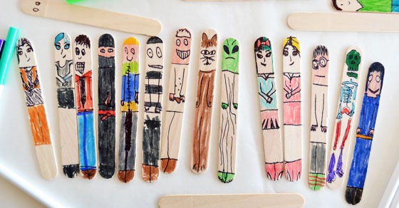 Make Some Easy Craft Stick People Picklebums