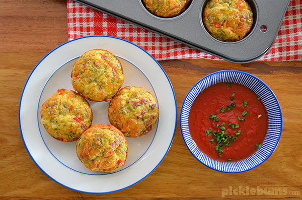 Mini Pizza Quiche - crustless quiche that is great in the lunch box, for dinner, or even breakfast!