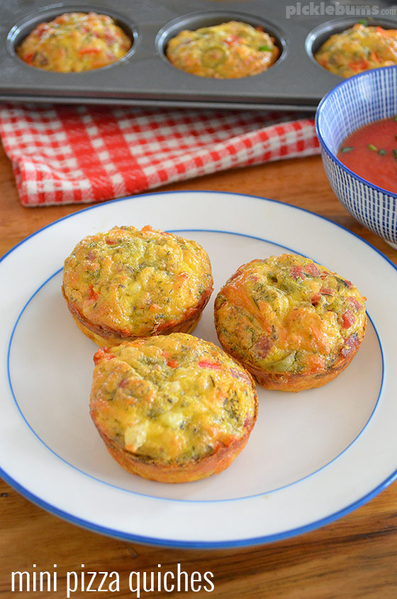 mini pizza quiches picklebums. Black Bedroom Furniture Sets. Home Design Ideas