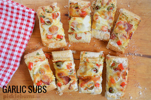 Six ways to make dinner awesome - even when you really, really, don't want to cook dinner! Garlic subs