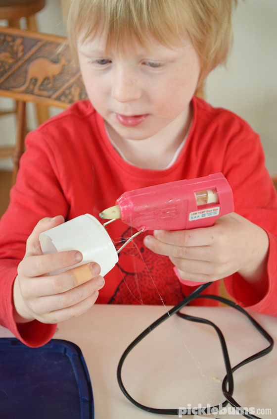 Tips for using a low temp hot glue gun with kids