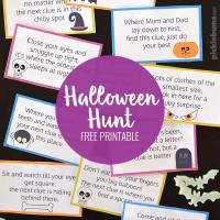 Halloween Hunt! Free printable Halloween treasure hunt