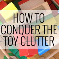 How to conquer the toy clutter