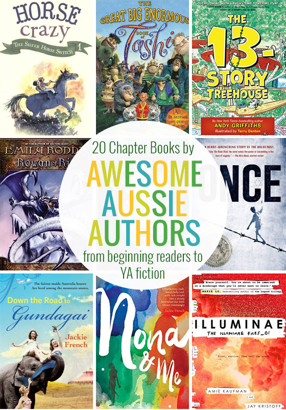 20 chapter books by awesome Aussie authors - with suggestions for beginning readers right through to young adult fiction