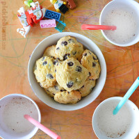 Banana Chocolate Chip cookies - it's what happens when banana bread and choc chip cookies have a baby!