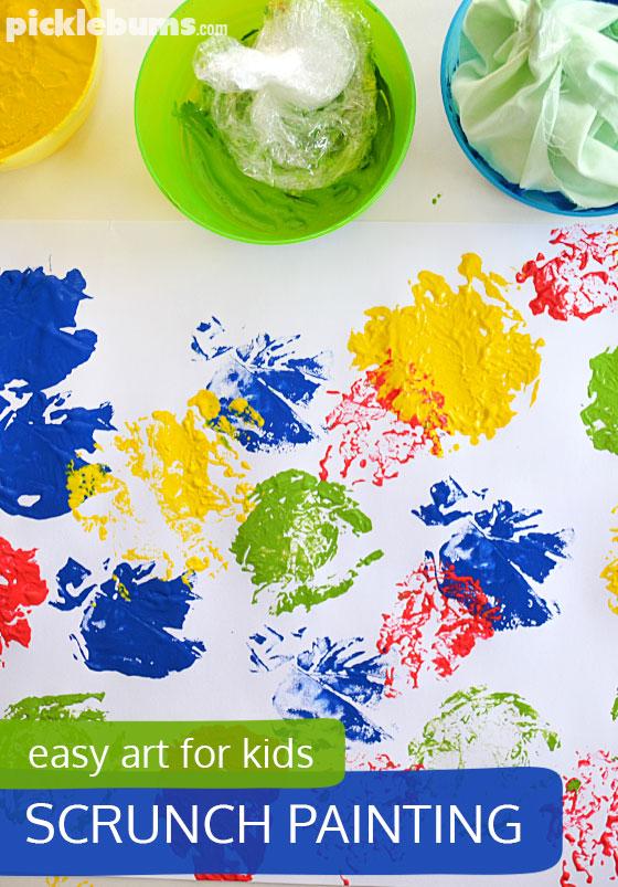 Scrunch painting! An easy process art activity