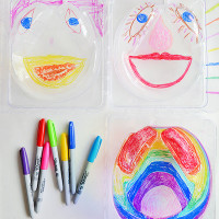 See-through Drawing - an easy art activity for kids