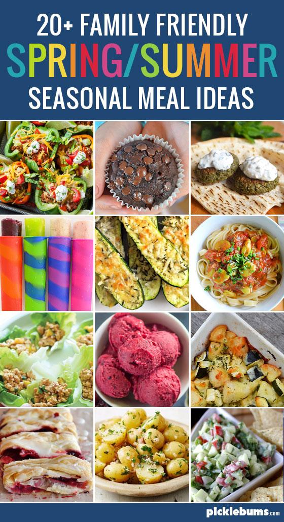 Seasonal Eating - 20+ spring/summer meal ideas