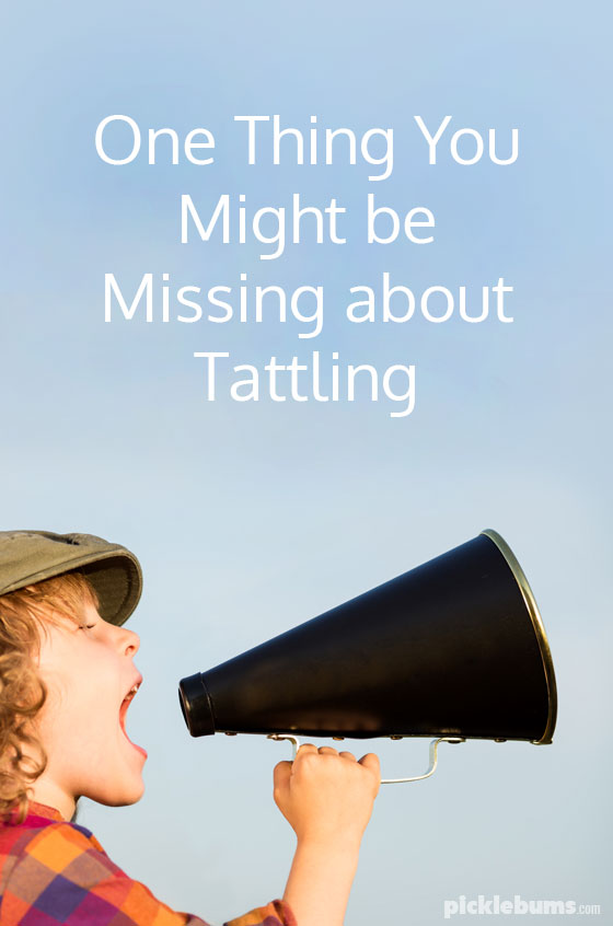One thing you might be missing about tattling