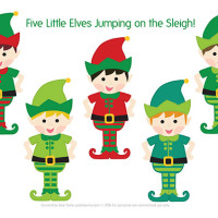 Five Little Elves Christmas Song – Free Printable Puppets
