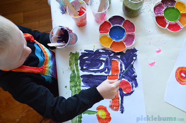 colour mixing what kids learn from this simple process art activity - Colour Painting For Kids