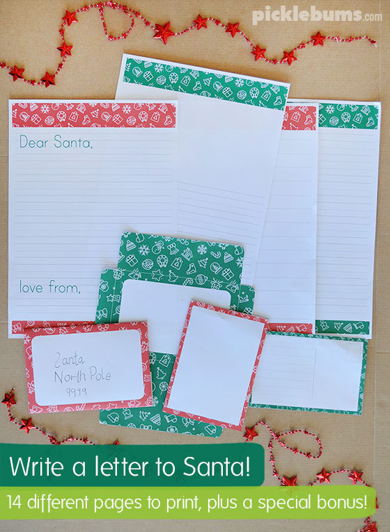 Write a letter to santa with our Letters to Santa Writing Set
