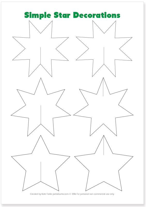 Easy To Make Christmas Star Decorations - Picklebums