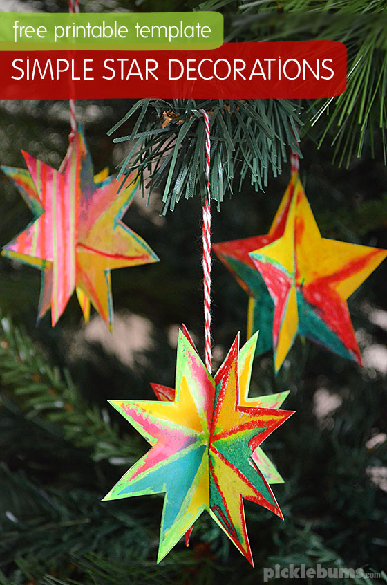 photograph about Free Printable Christmas Ornament Patterns titled Very simple in the direction of Generate Xmas Star Decorations - Pickles