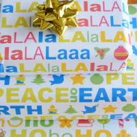 Free printable Christmas wrapping paper. Plus bonus colour in versions too!
