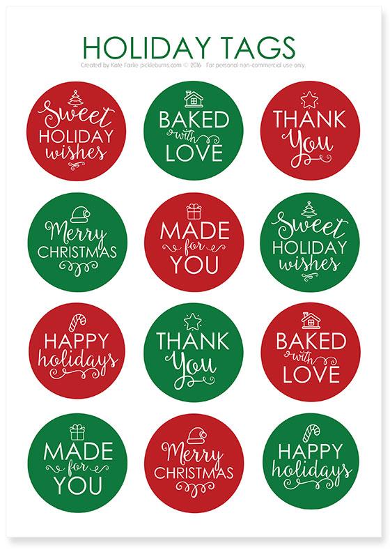 Chocolate cherry cookies and printable holidays tags picklebums chocolate cherry cookies and free printable holiday gift tags negle Image collections