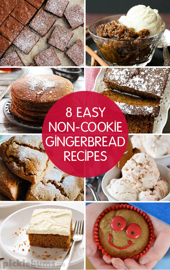 Eight, easy, non-cookie, gingerbread recipes