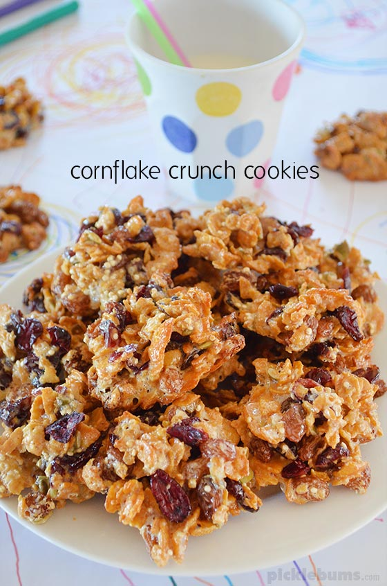 Cornflake Crunch Cookies - easy and delicious! Egg-free, nut-free (optional) and gluten-free (if using gluten free cereal)