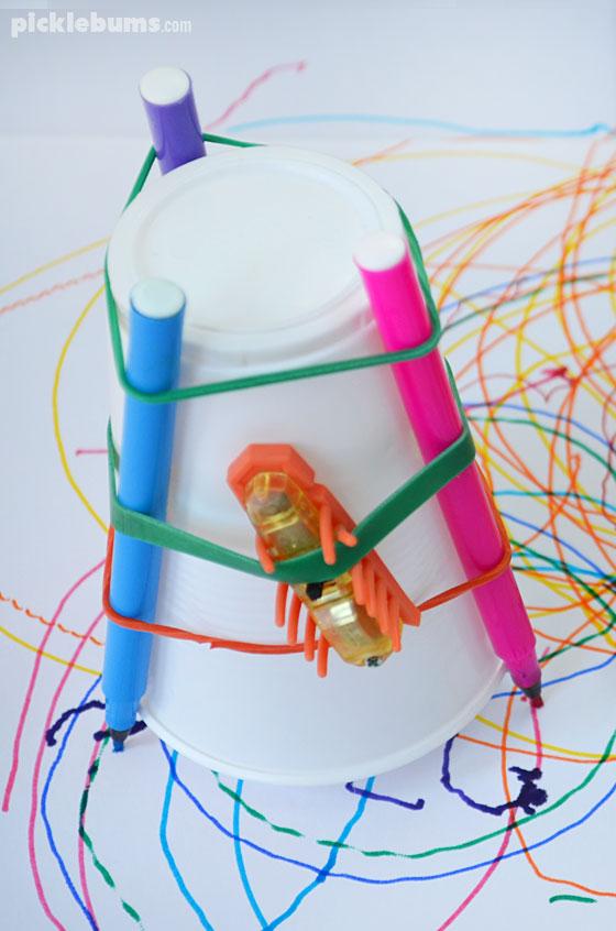 Make a simple Hexbug drawbot