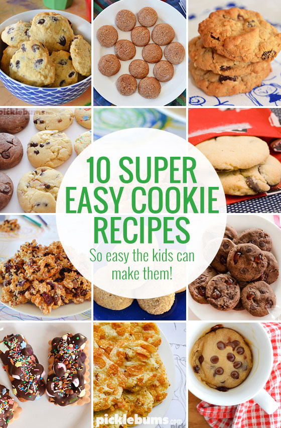 Ten super easy cookie recipes - so easy even the kids can make them!
