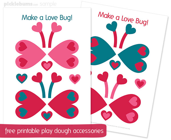 free printable play dough accessories