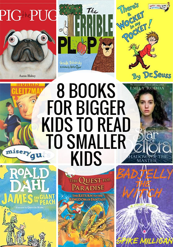 8 Book for Bigger Kids to Read to Smaller Kids.