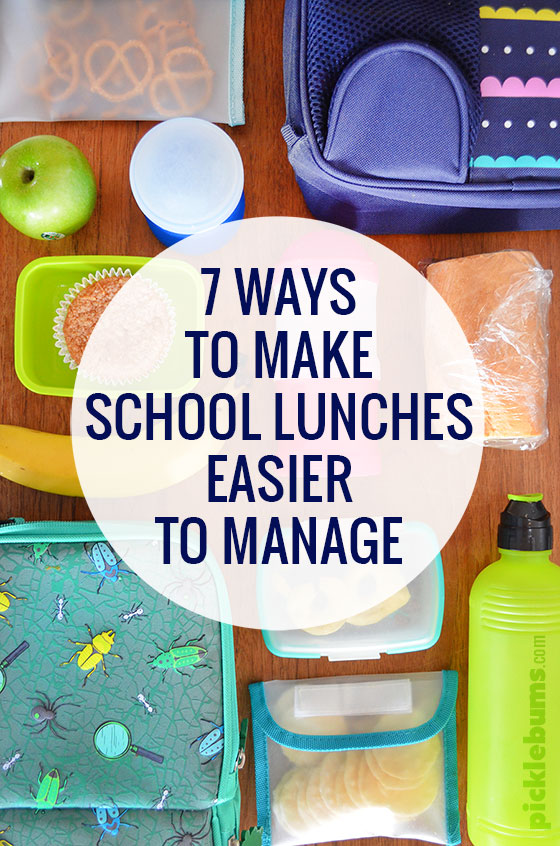 7 Ways to make School lunches easier to manage - from a Mum who hates making lunches!